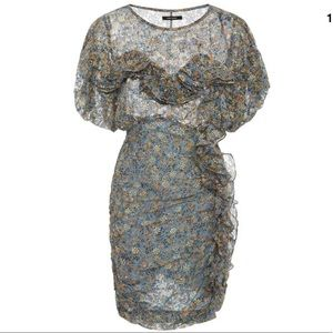 Isabel Marant 🔥🔥🔥Face Ruffled Sheath Mini Dres